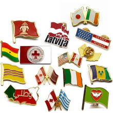 Custom Zinc Alloy Soft Enamel Flag Pin Badge